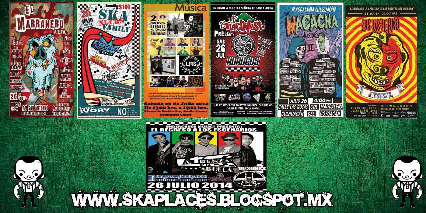 Cartelera Final de Ska Places •••SABADO••• de Ska,Punk,Surf