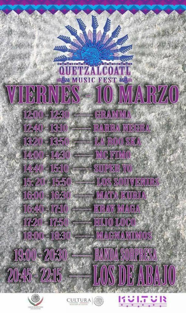 Quetzalcoatl Music Fest 2017 - Viernes