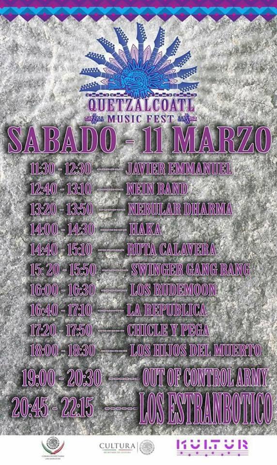 Quetzalcoatl Music Fest 2017 - sabado