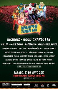 Vans Warped Tour México 2017 - Cartel 2