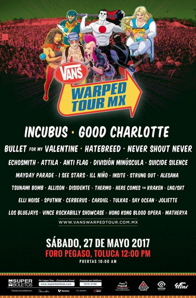 Vans Warped Tour México 2017 - Cartel 2