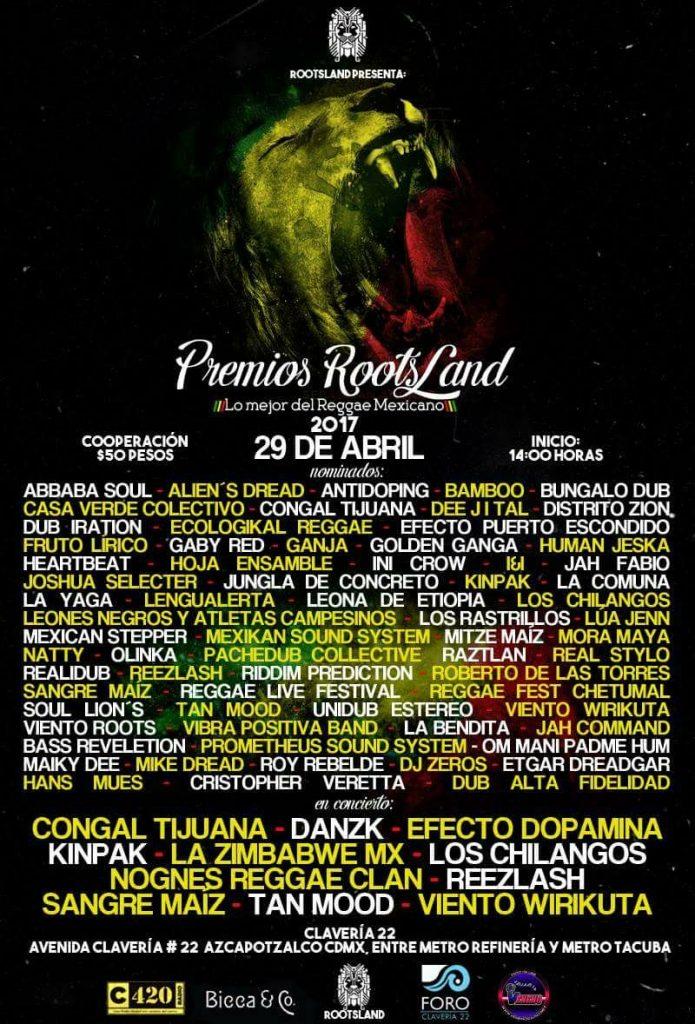 Premios RootsLand 2017 mexico