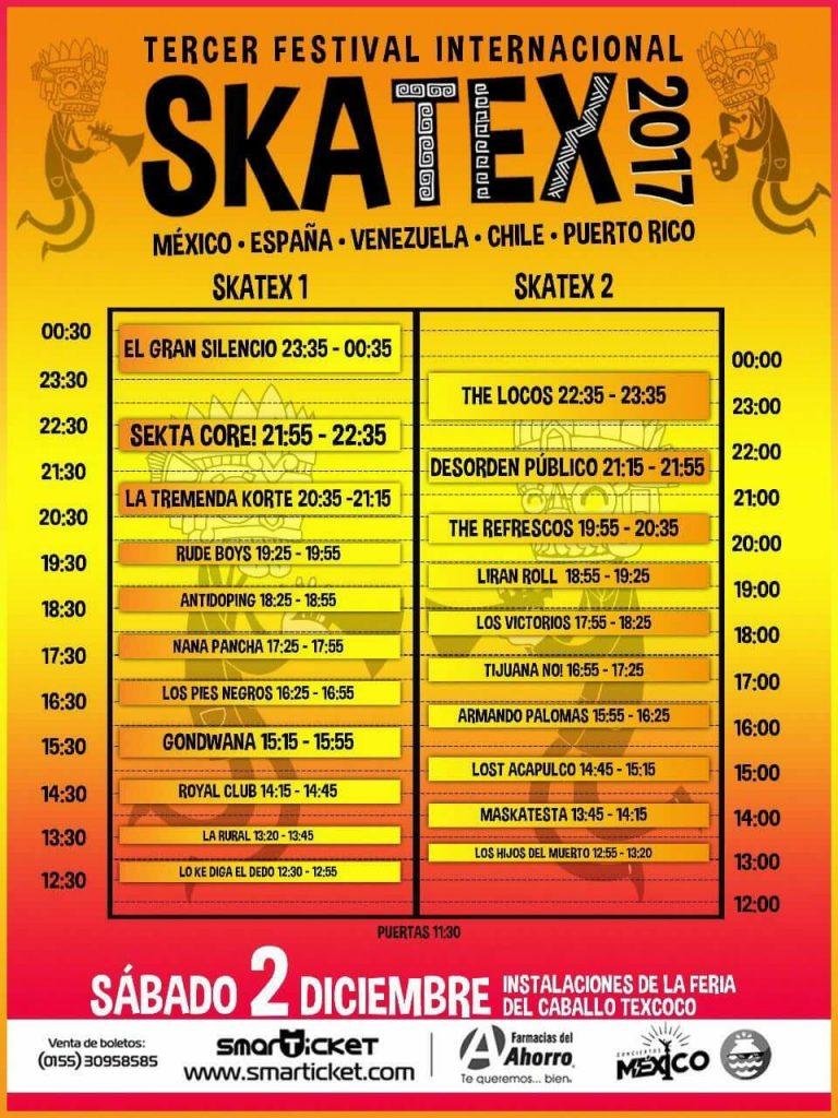 Skatex 2017 - Horarios