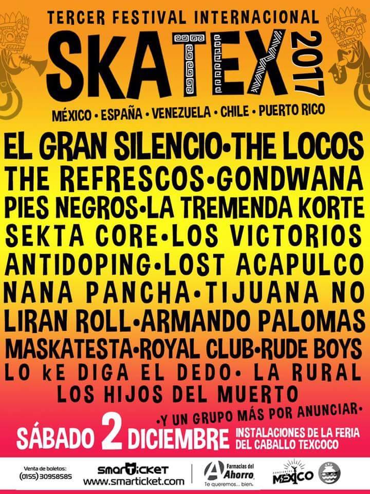 skatex 2017 - cartel oficial - bandas