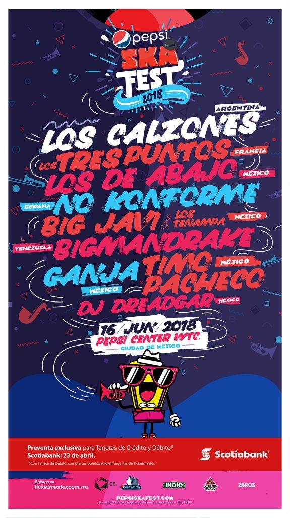 Pepsi Ska Fest 2018 cartel