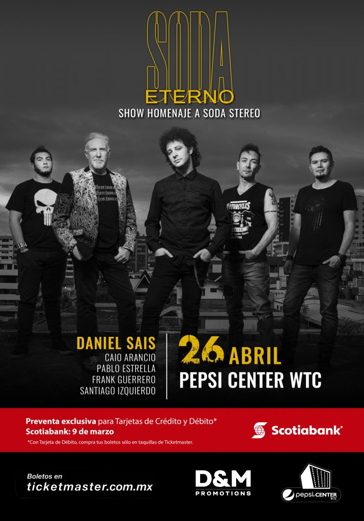 SODA ETERNO EN PEPSI CENTER 26 DE ABRIL