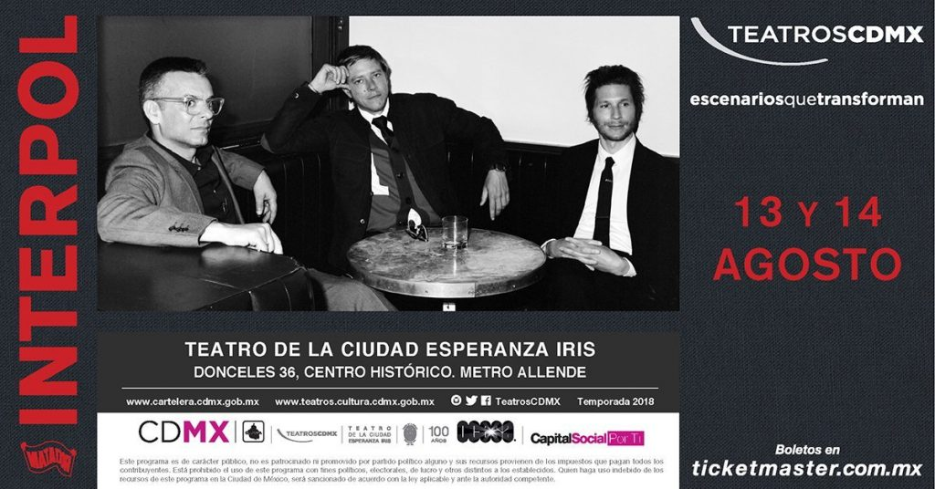 Interpol en Teatro Esperanza Iris
